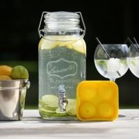 Drank dispenser met tapkraan - 3,75L - Glas