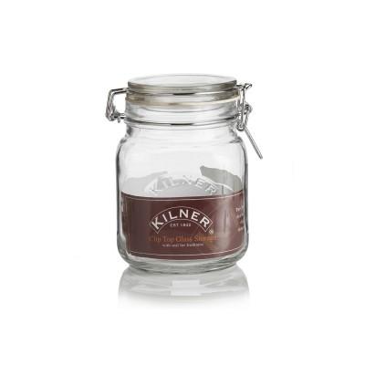 Glazen weckpot - Kilner vierkant - 1 liter met klemdeksel