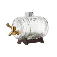 Glazen vat met koperkleurige kraan - Kilner Barrel - 1 Liter