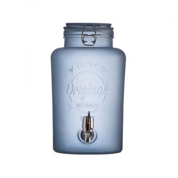 Kilner - 5 liter drankdispenser - Frosted blauw