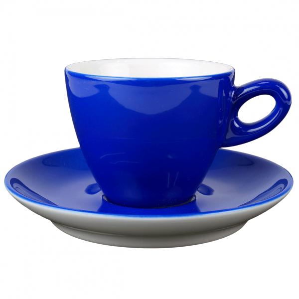 Walkure alta cappuccinokopje met schotel blauw