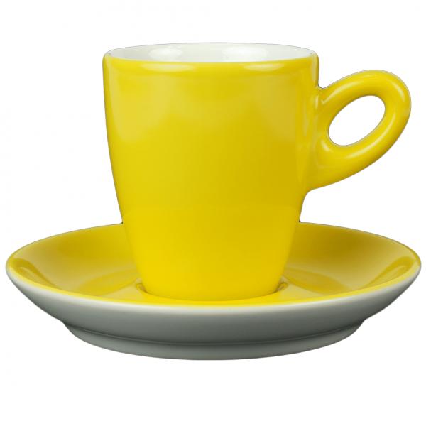 Walkure alta koffiekopje met schotel geel