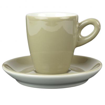 Walkure alta koffiekopjes met schotel grijs