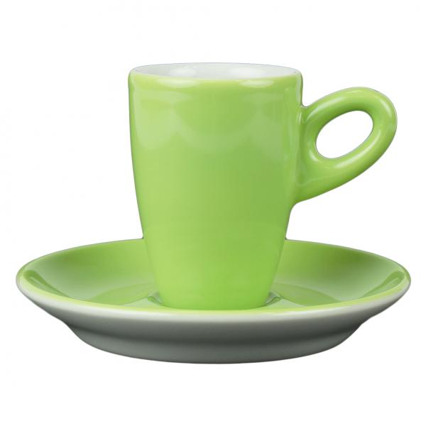 Walkure alta espressokopjes met schotel groen