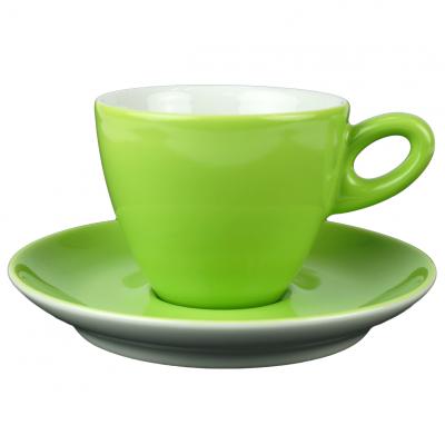 Walkure alta cappuccinokopje met schotel groen