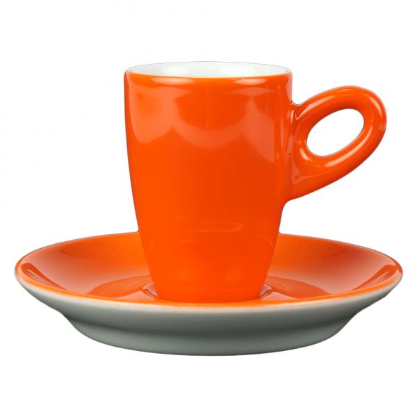 Walkure alta espressokopjes met schotel oranje