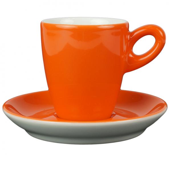 Walkure alta koffiekopjes met schotel oranje