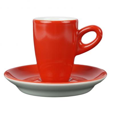 Walkure alta espressokopjes met schotel rood