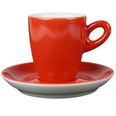 Walkure alta koffiekopjes met schotel rood