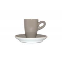 Walkure alta espressokopjes met schotel grijs