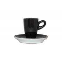 Walkure alta espressokopjes met schotel zwart