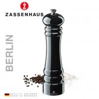 Zout- en pepermolen Zassenhaus Berlin - 24cm - Zwart glans