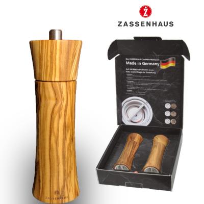 Zout  en pepermolen Zassenhaus Frankfurt - 18cm- Olijvenhout - Set