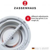 Zout  en pepermolen Zassenhaus Frankfurt - 18cm - Hout naturel - Set