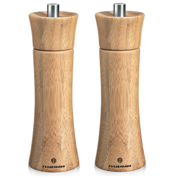 Zout  en pepermolen Zassenhaus Frankfurt - 18cm - Bamboe - Set