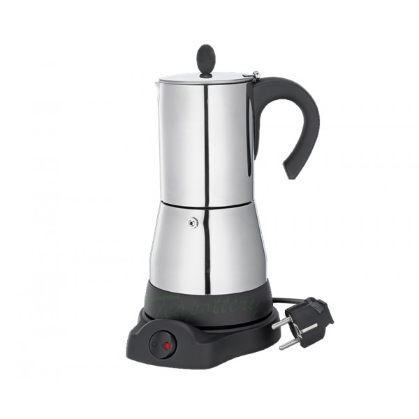 Elektrische espressopot / percolator cilio 480 Watt - RVS - 6 kops