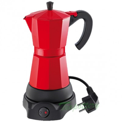 Elektrische espresso maker / percolator cilio 480 Watt - Rood