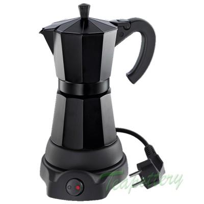 Elektrische espresso maker / percolator cilio 480 Watt - Zwart