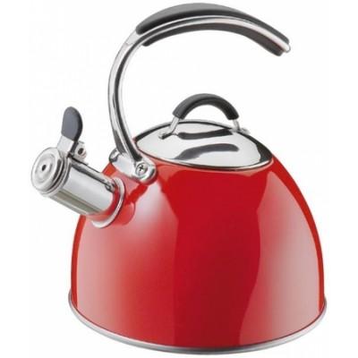Retro fluitketel Cilio Baron - 2,5 liter - Rood