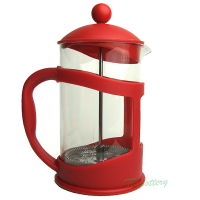 Cafetiëre - French press - koffiekan - 0,8L - Cilio - Rood