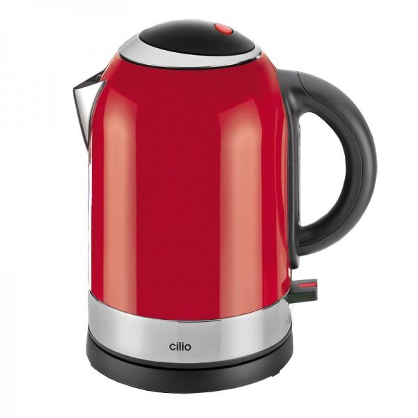 Waterkoker rood- 1,7 liter - 2400W - RVS - Cilio