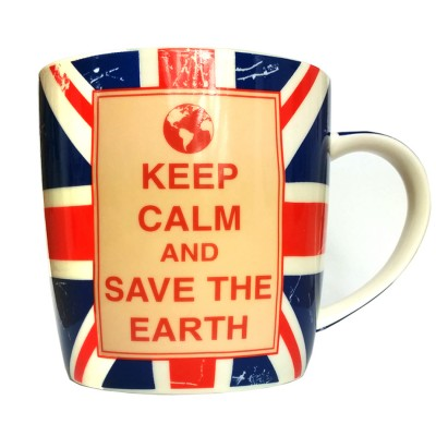 Theemok - Keep calm and save the earth - Geschenkbox